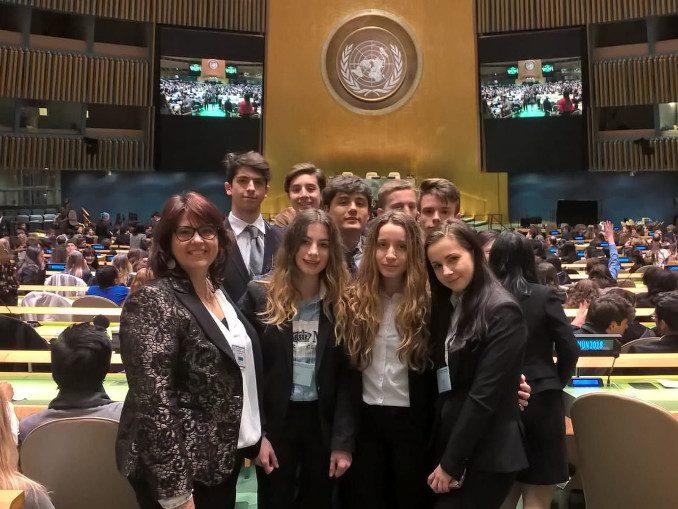 Studenti del Giolitt-Gandino di Bra in visita alle Nazioni unite