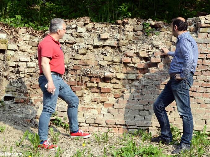 Govone Castello muro crollato (1)