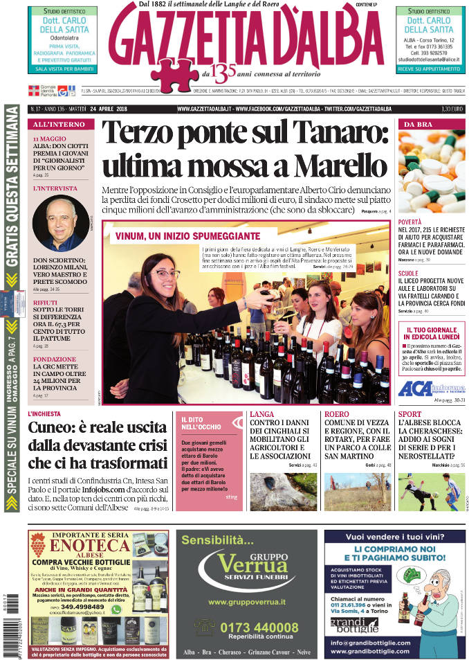 Prima_pagina_Gazzetta_dAlba_n_17-2018