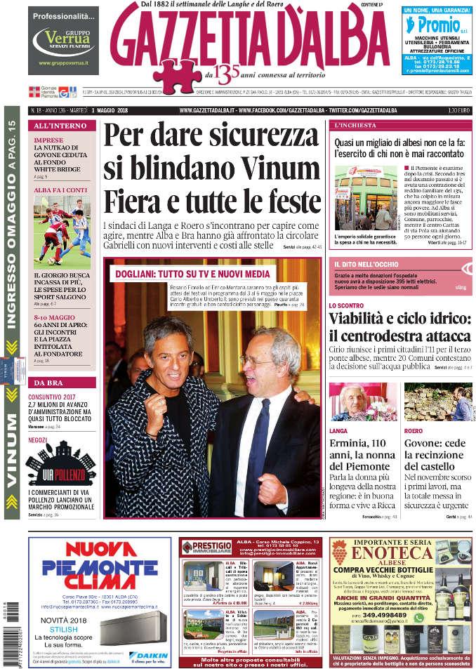 Prima_pagina_Gazzetta_dAlba_n_18-2018