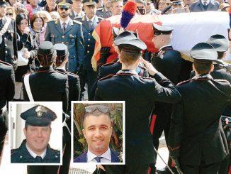 L'omaggio ai Carabinieri Giorgio e Alessandro, morti per garantire la sicurezza dei cittadini