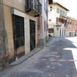 Crolla cornicione a Montà: via Cavour è chiusa al traffico