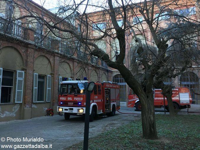 Incendio all'ospedale Santo Spirito di Bra 1