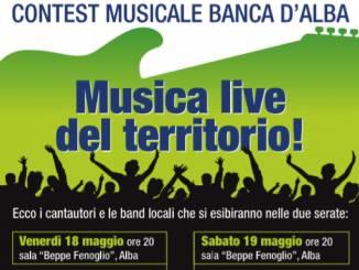 Contest Banca d'Alba: venerdì 18 e sabato 19 maggio i musicisti locali sono protagonisti