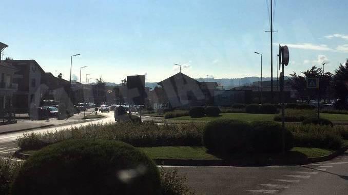 Traffico e code entrando in Alba dal Roero 2