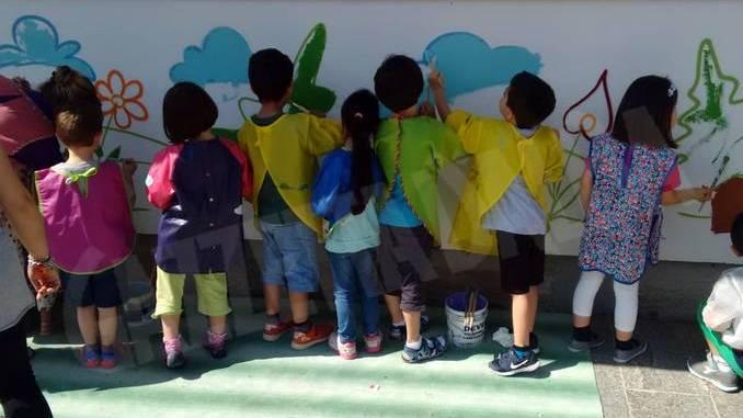 All'asilo murales d'artista con Be street e Truly design 15