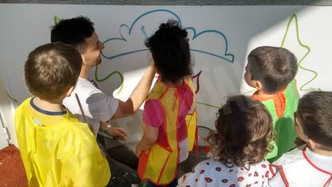 All'asilo murales d'artista con Be street e Truly design 16