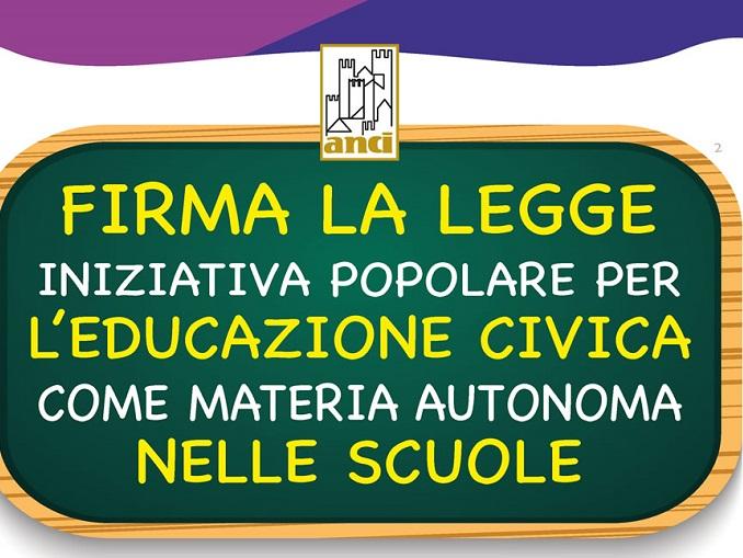 Logo raccolta firme educazione alla cittadinanza