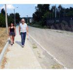 Completati i marciapiedi in regione Surie, si pensa a renderla più sicura