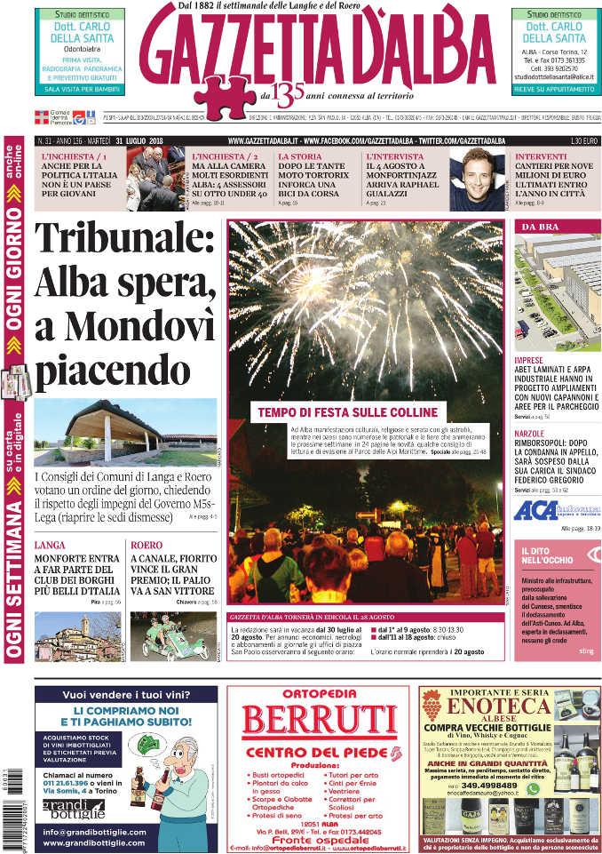 Prima_pagina_Gazzetta_Alba_31-2018