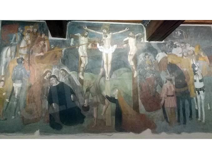 Santa Vittoria affreschi confraternita di San Francesco
