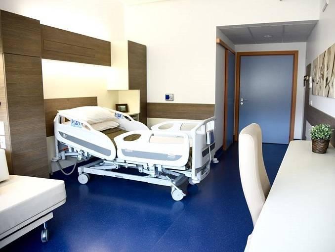 Una camera del nuovo ospedale di Verduno