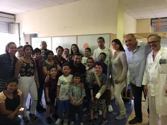 Tomas Rincon e Mimmo Caruso al Regina Margherita per portare sollievo ai bambini