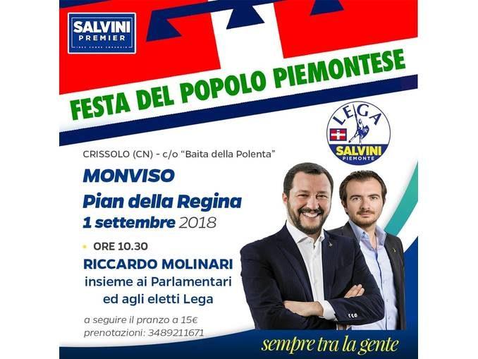 La Lega invita alla Festa del popolo piemontese a Pian della regina