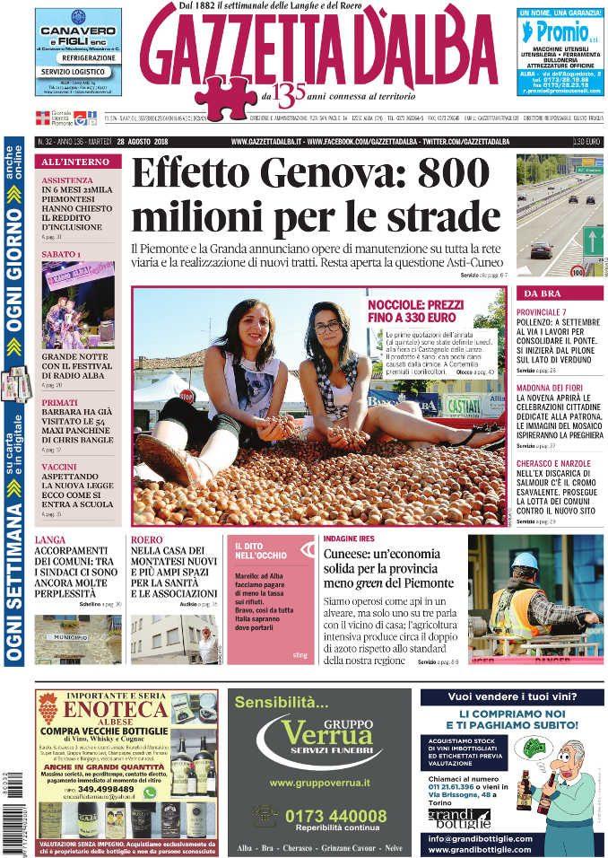 La copertina di Gazzetta in edicola martedì 28 agosto