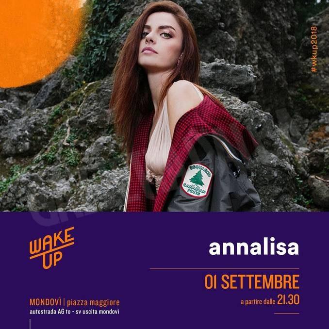 Il 1° settembre Annalisa inaugura il festival Wake up a Mondovì