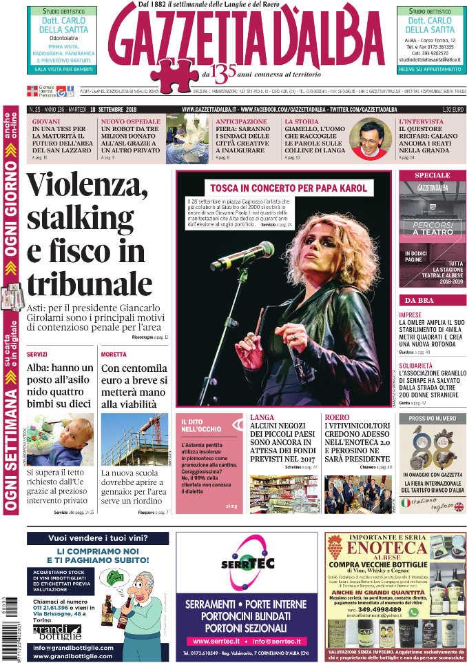 Prima_pagina_Gazzetta_d'Alba_n_35_2018