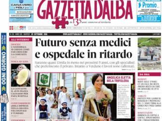 La copertina di Gazzetta in edicola martedì 25 settembre 1