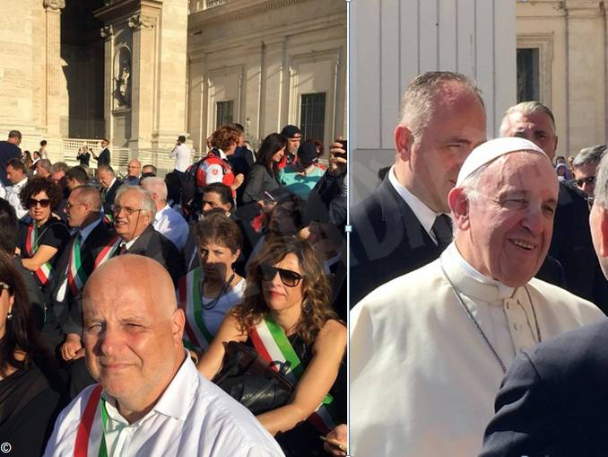 Sindaco Marello_Zambon_Papa Francesco