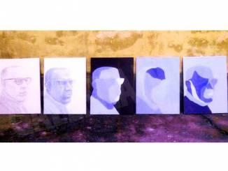 I 19 ritratti in blu di Pietro Chiodi opera di Chiezzi