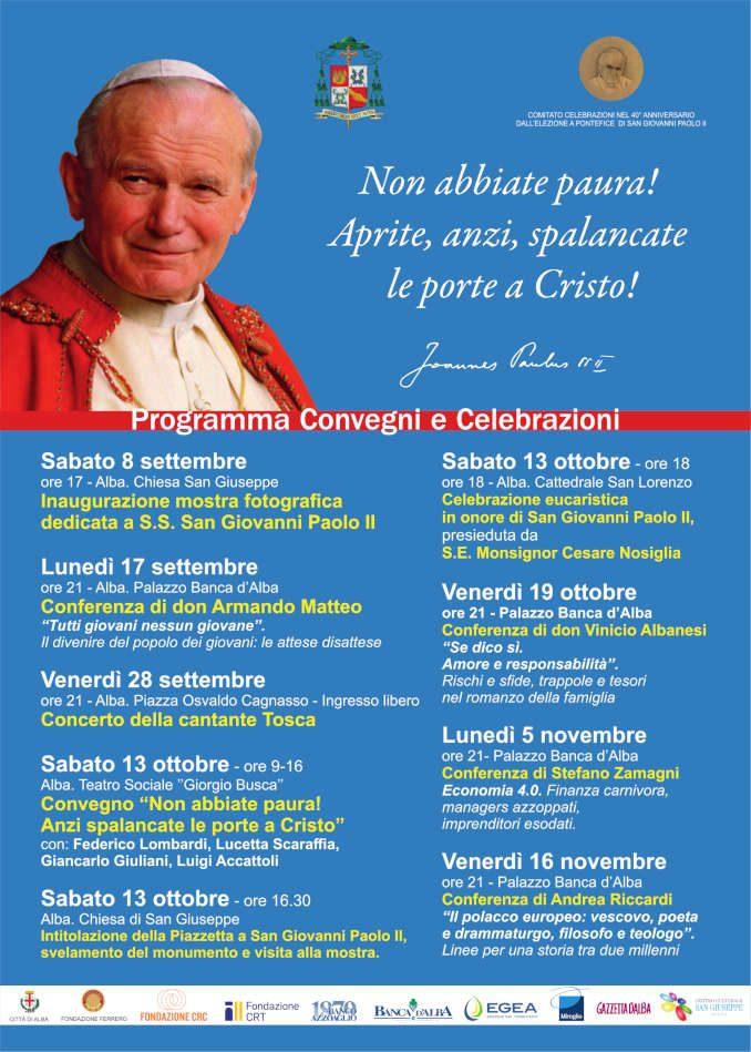 Presentate in comune ad Alba le iniziative in onore di San Giovanni Paolo II 3