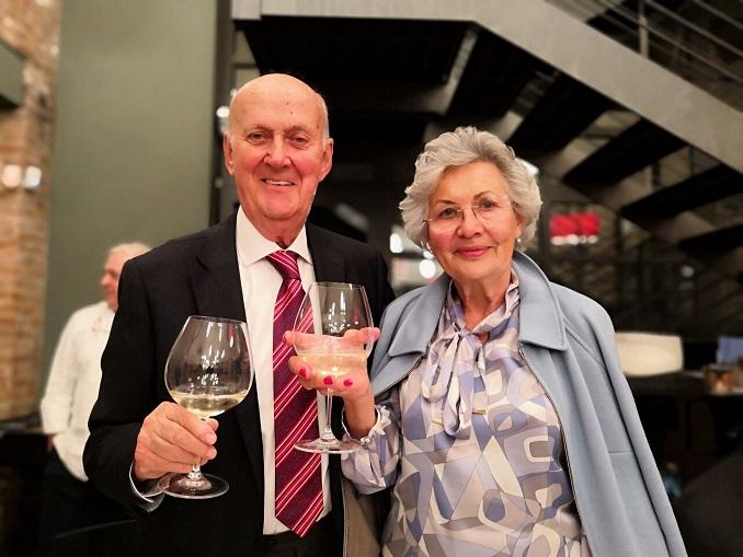 Michele Chiarlo e la moglie Pinuccia