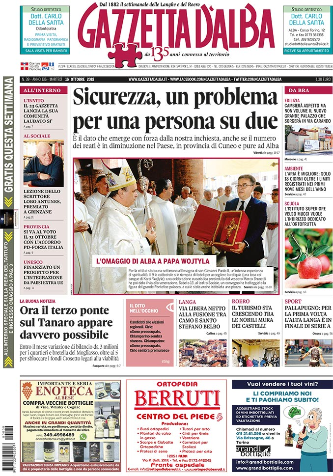 Prima_pagina_Gazzetta_d'Alba_n_39_2018