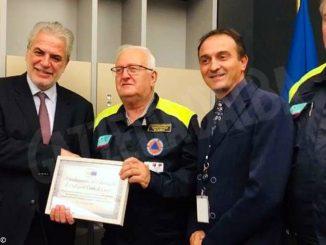 La Protezione civile di Cuneo premiata dall'Ue a Strasburgo