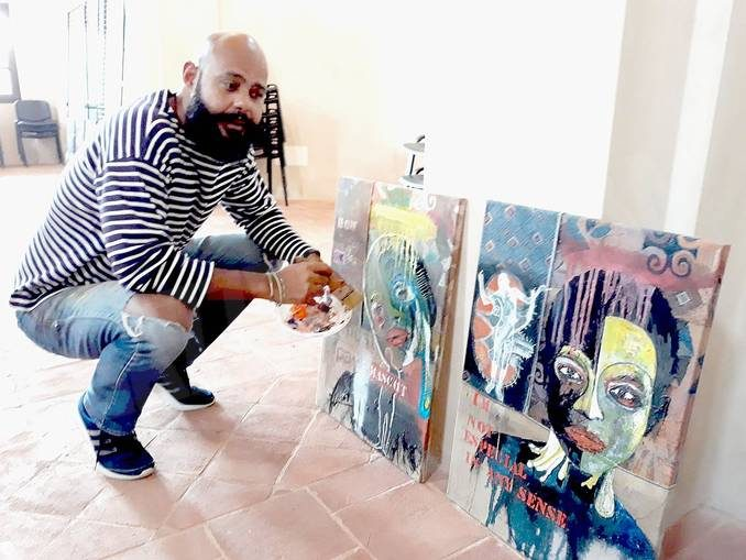 Alex Da Silva ritrae i volti delle persone a Ceresole