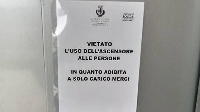 Istituto musicale: ascensore o montacarichi?