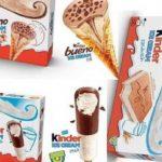 Nel 2019 i gelati Kinder dovrebbero essere lanciati sul mercato italiano