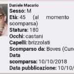 Ritrovato in buone condizioni Daniele Macario