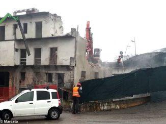 In corso la demolizione di uno stabile in corso Torino, diventerà la sede dell'Rps Gavuzzi