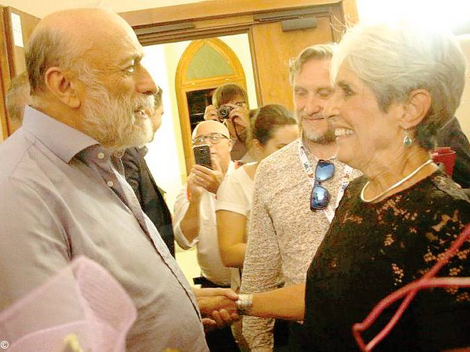 Carlin Petrini con Joan Baez