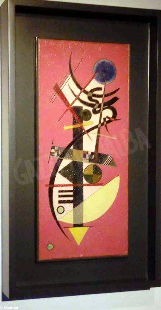 L'opera Spitz-Rund  di Kandinskij esposta a Mondovì