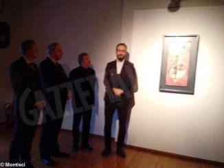 L'opera Spitz-Rund  di Kandinskij esposta a Mondovì 1