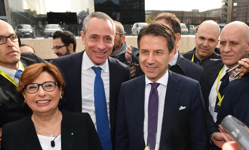 Poste incontra i Sindaci d'Italia_M.B. Farina, M. Del Fante, G.Conte