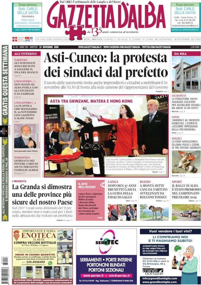 La copertina di Gazzetta in edicola martedì 13 novembre