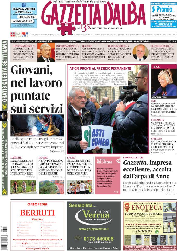 Prima_pagina_Gazzetta_dAlba_n_44_2018