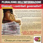La protesta dei settimanali cattolici contro i tentativi di tagliare il sostegno all'editoria vitale per il territorio