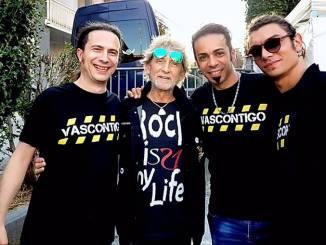I Vascontigo a Cisterna con il bassista di Vasco Claudio Golinelli