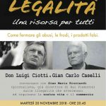 I dialoghi intorno alla legalità con don Ciotti e Caselli