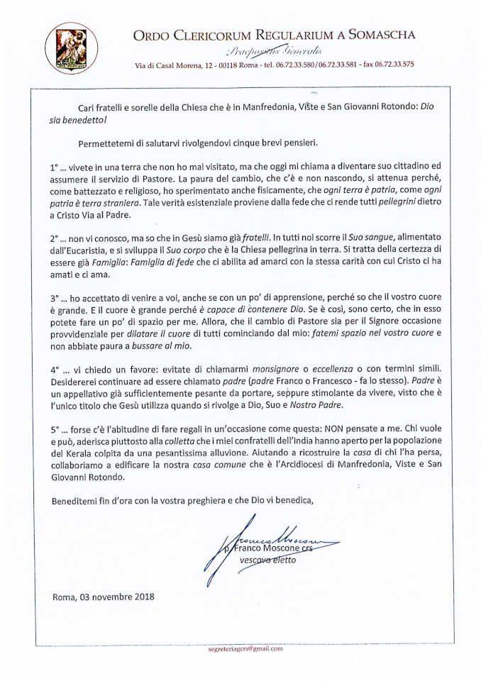 Padre Franco Moscone sarà ordinato vescovo nella cattedrale di Alba 1