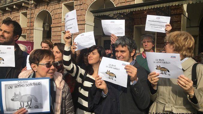 Attacchi alla stampa, i giornalisti in piazza a Torino