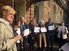 Attacchi alla stampa, i giornalisti in piazza a Torino 1