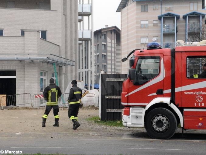 viale masera incidente vigili fuoco
