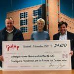 Galup dona 24.670 euro alla Fondazione per la ricerca sul Cancro di Candiolo