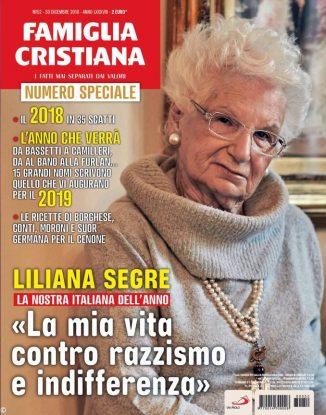 Famiglia Cristiana: sceglie Liliana Segre come italiana dell'anno