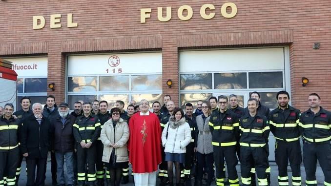I pompieri albesi festeggiano la patrona dei vigili del Fuoco Santa Barbara