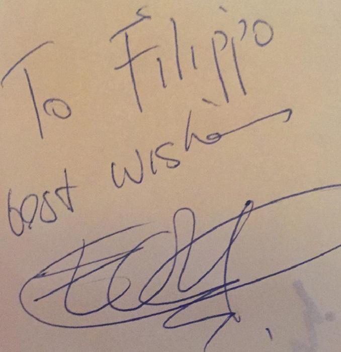 The Edge autografo